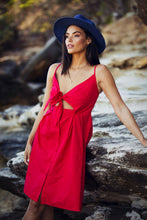 Load image into Gallery viewer, Marilyn Sundress - Red-SOPHIA + CO-SOPHIA + CO