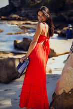 Load image into Gallery viewer, Maxine Maxi Adjustable Strap Dress - Red-SOPHIA + CO-SOPHIA + CO
