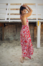 Load image into Gallery viewer, Roxette Halter Sundress - Red 'n' White-SOPHIA + CO-SOPHIA + CO