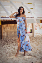 Load image into Gallery viewer, Kelly - Floral Blue Off the Shoulder Maxi Dress-SOPHIA + CO-SOPHIA + CO
