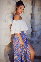 Load image into Gallery viewer, Zenith - Off the Shoulder White Cotton Gypsy Top-SOPHIA + CO-SOPHIA + CO