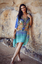 Load image into Gallery viewer, Alize - Crepe Silk Kaftan Dress - 100cm-SOPHIA + CO-SOPHIA + CO