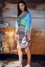Load image into Gallery viewer, Aegean Dreams - Silk Kaftan Dress - 100cm-SOPHIA + CO-SOPHIA + CO