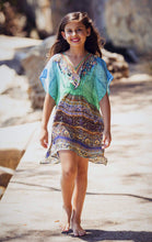Load image into Gallery viewer, Aegean Dreams - Girls Silk Kaftan - Tweens-SOPHIA + CO-SOPHIA + CO