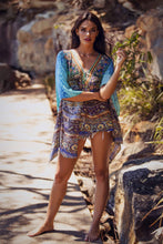 Load image into Gallery viewer, Aegean Dreams - Silk Kaftan V-Neck Dress - 80cm-SOPHIA + CO-SOPHIA + CO