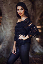 Load image into Gallery viewer, Suzanna - Off the Shoulder Black Lace Top-SOPHIA + CO-SOPHIA + CO