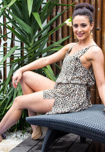 Load image into Gallery viewer, Short Sleeve Playsuit - Leopard Print-SOPHIA + CO-SOPHIA + CO