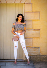 Load image into Gallery viewer, Off the Shoulder Stretch Top - Leopard Print-SOPHIA + CO-SOPHIA + CO