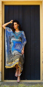 Moroccan Dreams - Silk Kaftan Dress - 135cm-SOPHIA + CO-SOPHIA + CO