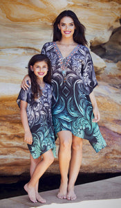 Secret Garden - Silk Kaftan Dress - 135cm-SOPHIA + CO-SOPHIA + CO