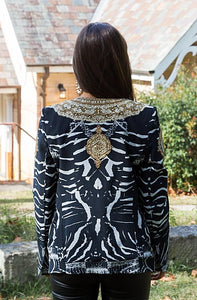Zebra Royal Jacket-SOPHIA + CO-SOPHIA + CO