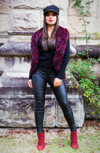 Load image into Gallery viewer, Freda Fur Vest - in Deep Cherry-SOPHIA + CO-SOPHIA + CO