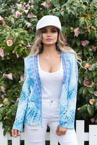 Ellena 100% Crepe Silk Jacket with embellishments-SOPHIA + CO-SOPHIA + CO