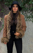 Load image into Gallery viewer, Saxon Corduroy Jacket with Faux Fur - in Caramel-SOPHIA + CO-SOPHIA + CO