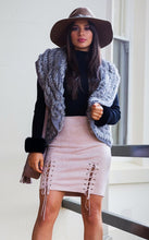 Load image into Gallery viewer, Faux Suede Lace-up Skirt - in Blush Pink-SOPHIA + CO-SOPHIA + CO