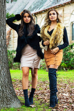 Load image into Gallery viewer, Alexia Fur Vest - in Black-SOPHIA + CO-SOPHIA + CO