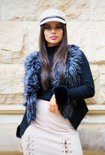 Load image into Gallery viewer, Savvy Faux Fur Vest - in Black-SOPHIA + CO-SOPHIA + CO