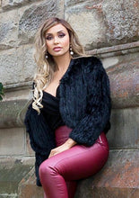 Load image into Gallery viewer, Christina Fur Jacket - in Black-SOPHIA + CO-SOPHIA + CO