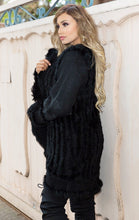Load image into Gallery viewer, Lavinia Cardigan with Fur - in Black-SOPHIA + CO-SOPHIA + CO