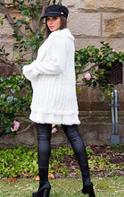 Load image into Gallery viewer, Lavinia Fur Cardigan - in White-SOPHIA + CO-SOPHIA + CO