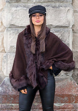 Load image into Gallery viewer, Elloisa Pashmina Overlay - in Chocolate Brown-SOPHIA + CO-SOPHIA + CO