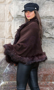 Elloisa Pashmina Overlay - in Chocolate Brown-SOPHIA + CO-SOPHIA + CO