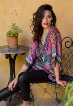 Load image into Gallery viewer, Pink Circus - Butterfly Silk Kaftan Top-SOPHIA + CO-SOPHIA + CO