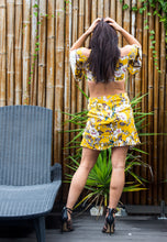 Load image into Gallery viewer, High Waisted Skirt and Long Sleeve Crop Top Set - Citrus Floral-SOPHIA + CO-SOPHIA + CO