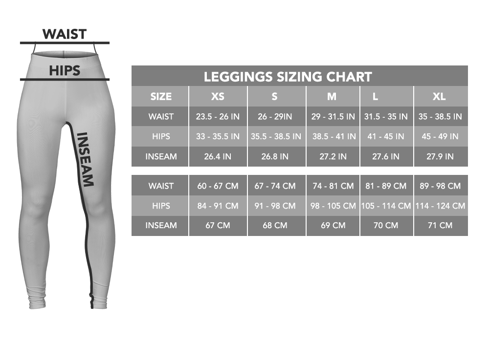 leggings size chart i love veterinary