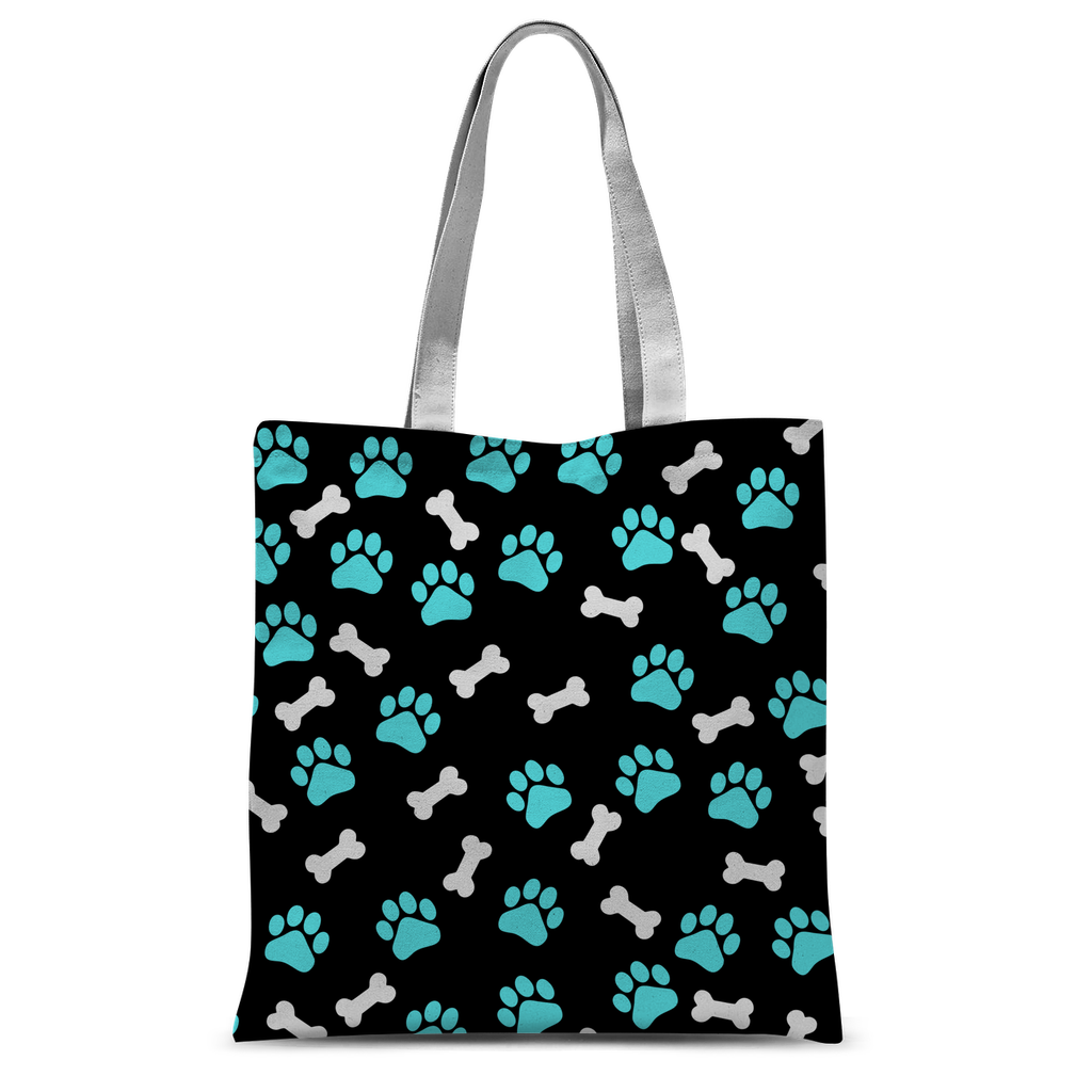 Paws and bones Classic Sublimation Tote Bag-Accessories-I love Veterinary