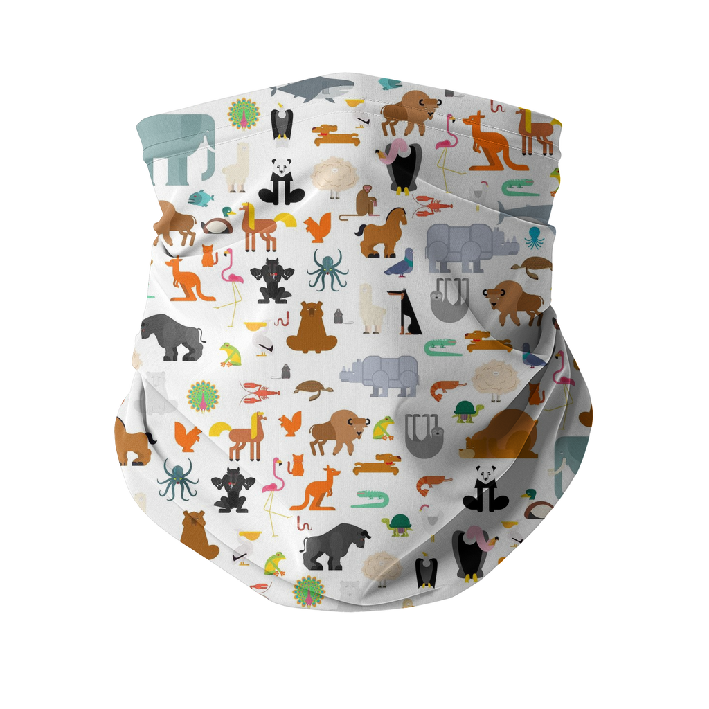 Zoo Pattern Sublimation Neck Gaiter-Accessories-I love Veterinary