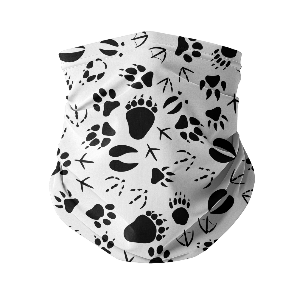 Animal pawprints white pattern Sublimation Neck Gaiter-Accessories-I love Veterinary