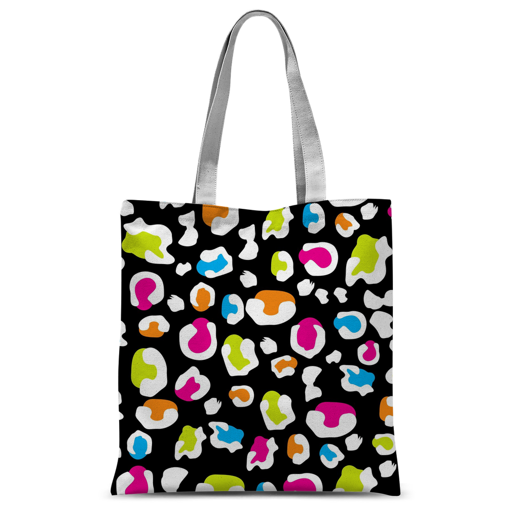 Colorful leopard black pattern Classic Sublimation Tote Bag-Accessories-I love Veterinary