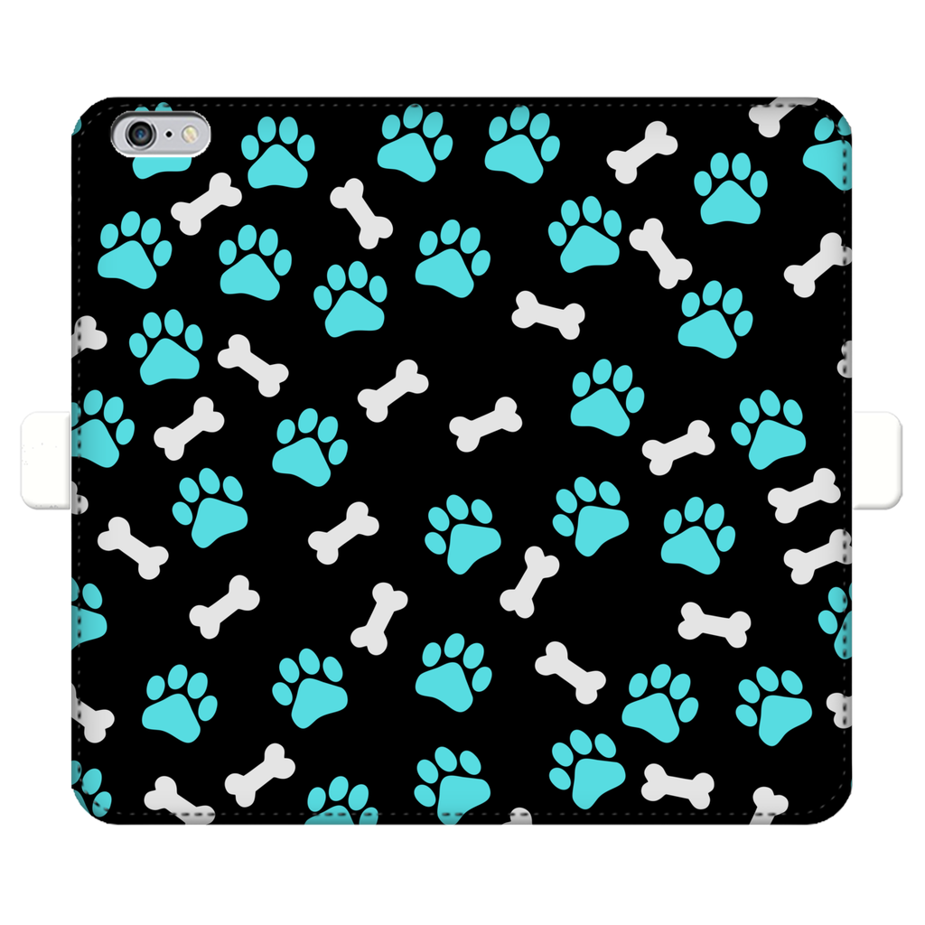Paws and bones Fully Printed Wallet Cases-Accessories-I love Veterinary