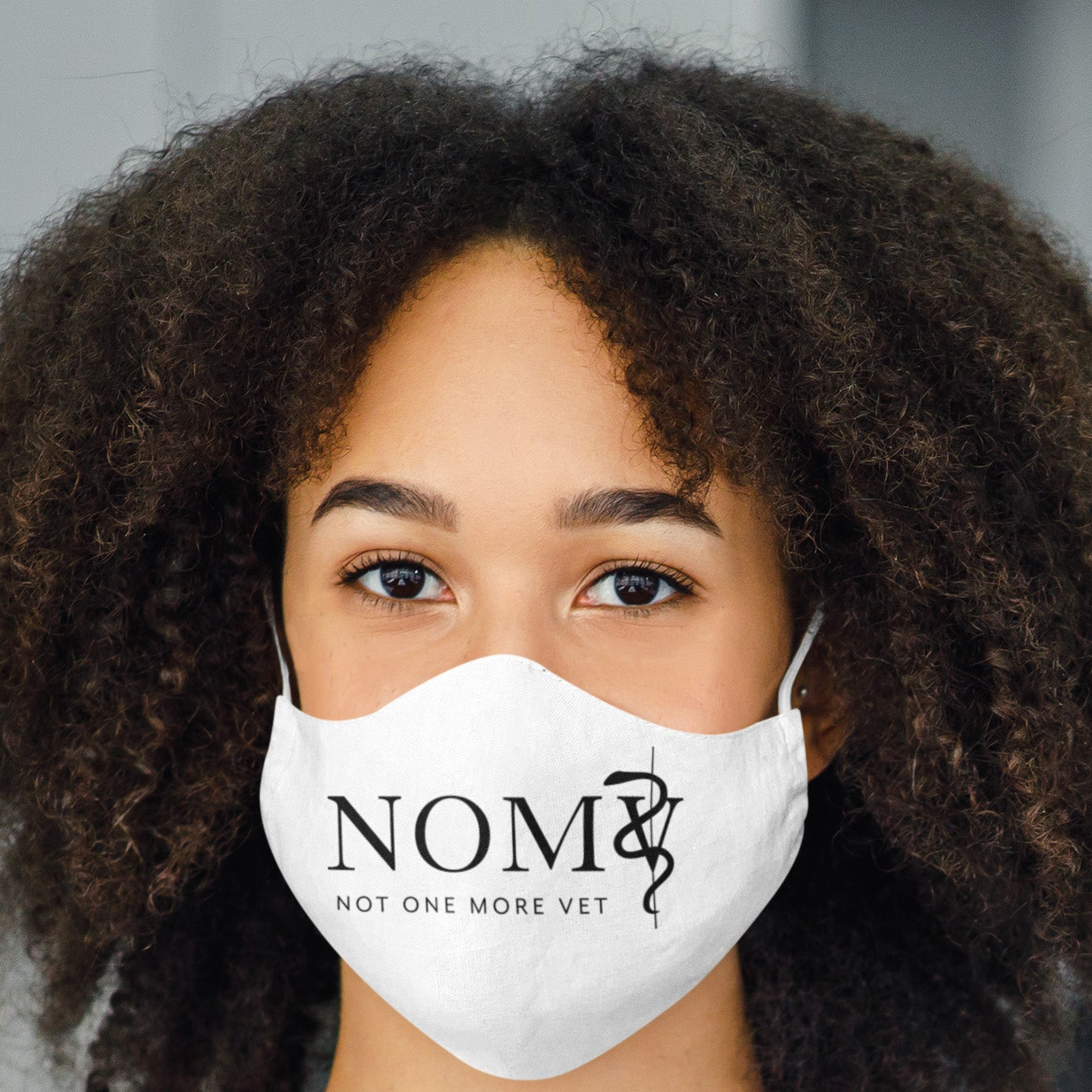 NOMV black logo Sublimation Face Mask-NOMV Sublimation Face Mask-I love Veterinary