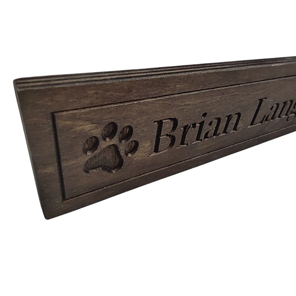 Wooden Desk Name Plate-Wooden Desk Plate Name-I love Veterinary