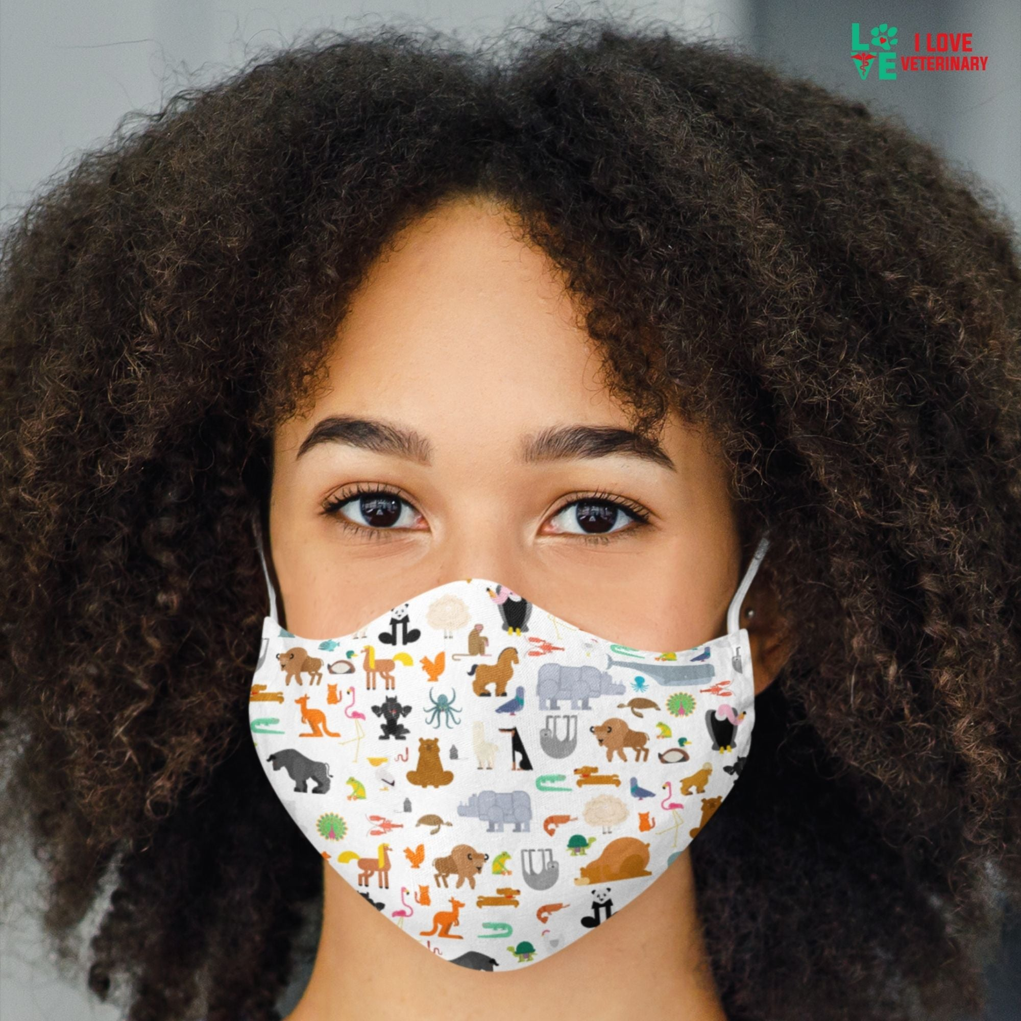 Zoo Pattern Sublimation Face Mask-Sublimation Face Mask-I love Veterinary