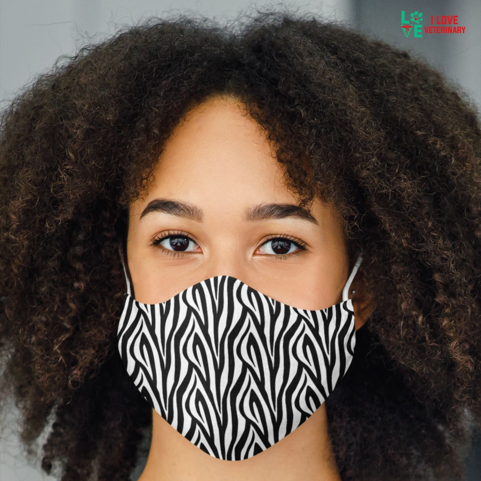 Zebra skin pattern Sublimation Face Mask-Accessories-I love Veterinary
