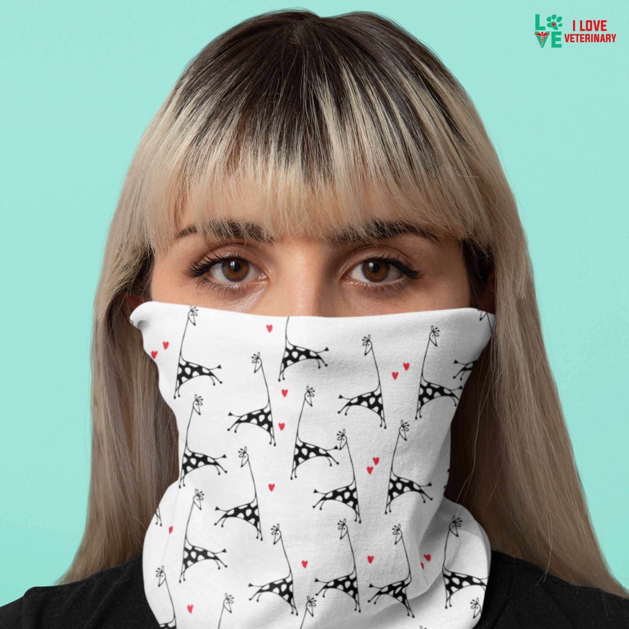 Giraffe Lover Sublimation Neck Gaiter-Accessories-I love Veterinary