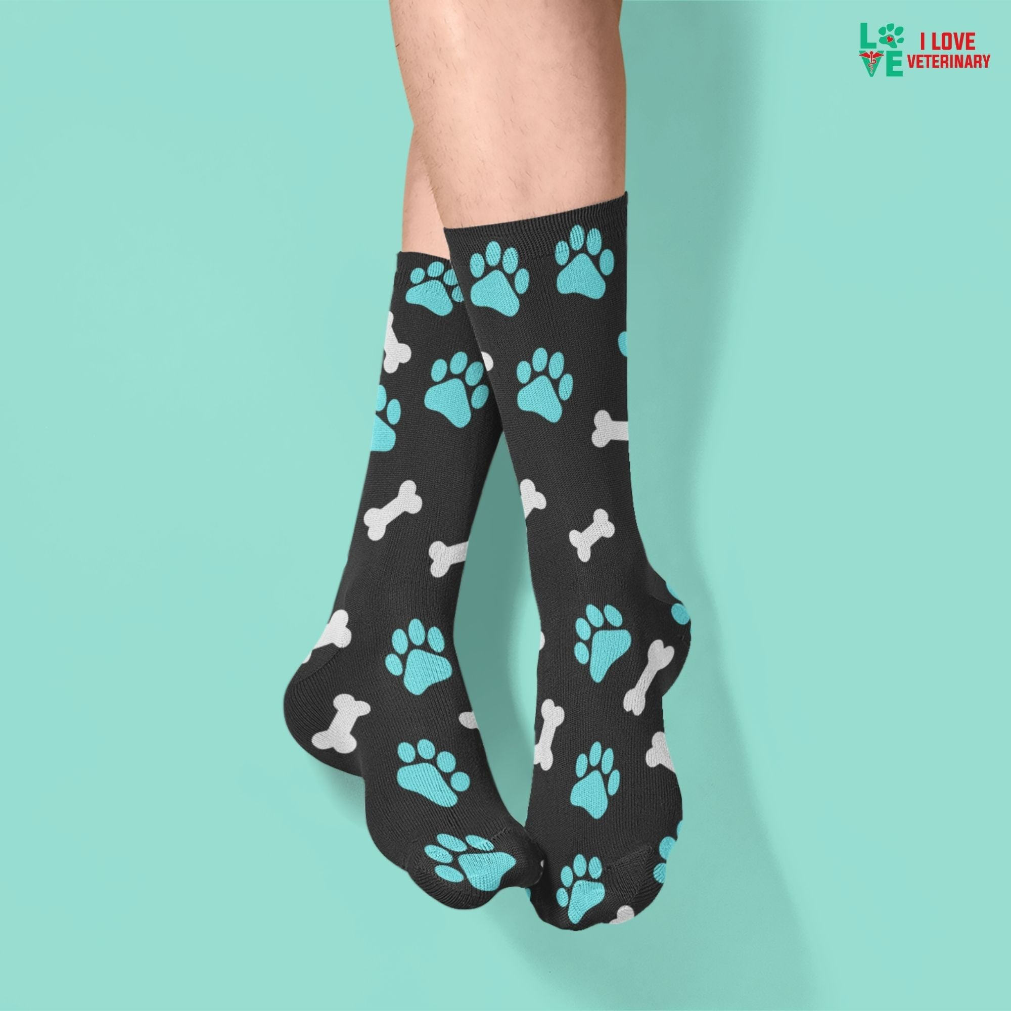 Paws and bones Sublimation Tube Sock-Socks-I love Veterinary