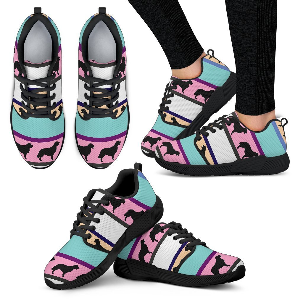 Dogs Pattern Women's Athletic Sneakers-Athletic Sneakers-I love Veterinary