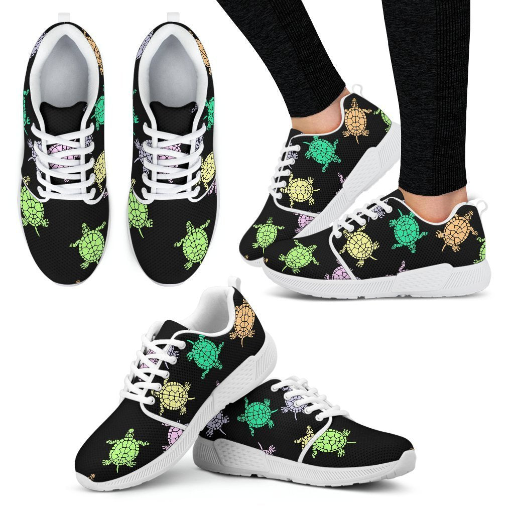 Breathable Lightweight Running Shoes Unisex Watercolor-Turtle-in-Water