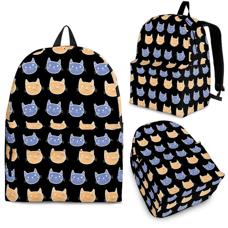 Cats Pattern - Backpack-Backpacks-I love Veterinary