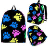 Colorful paws Black - Backpack-Backpacks-I love Veterinary