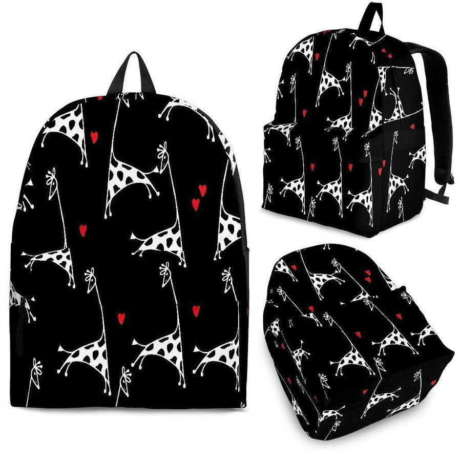Giraffe Lover Backpack-Backpacks-I love Veterinary