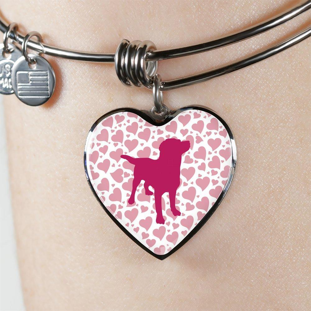 Dog Veterinarian Jewelry Gift Adjustable Luxury Bangle Bracelet Heart - Valentine Dog-Bangle Bracelet-I love Veterinary