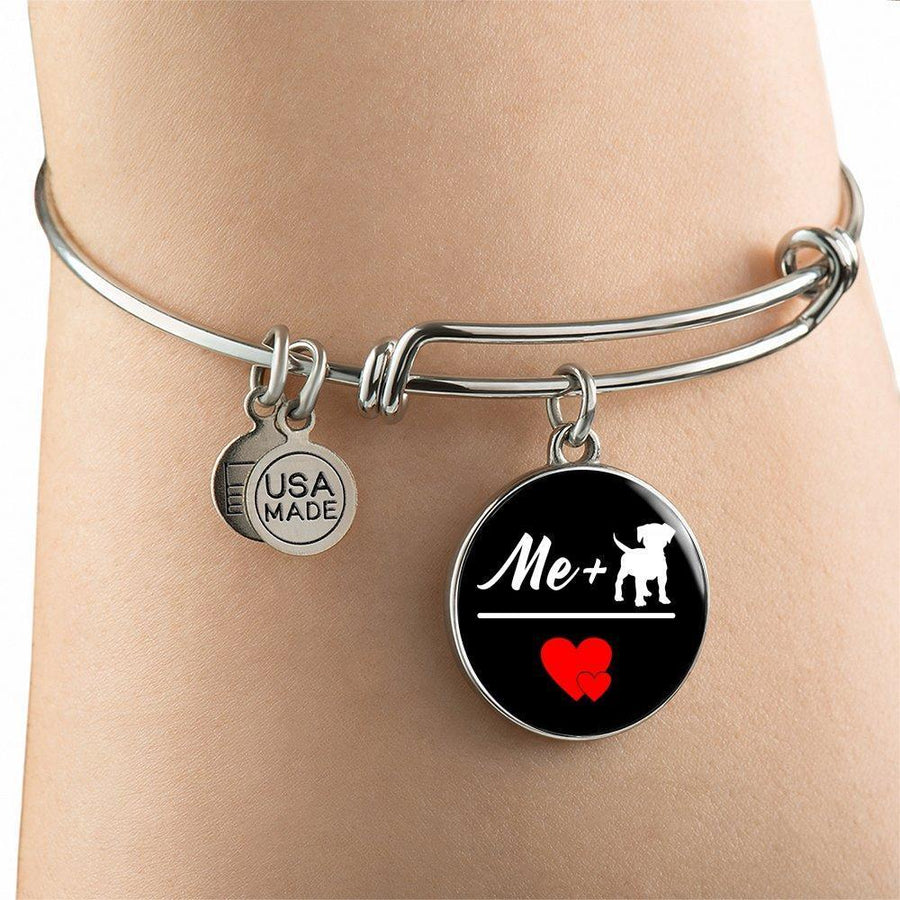 Dog Veterinarian Jewelry Gift Adjustable Luxury Bangle Bracelet - Me + Dogs = Love-Bangle Bracelet-I love Veterinary