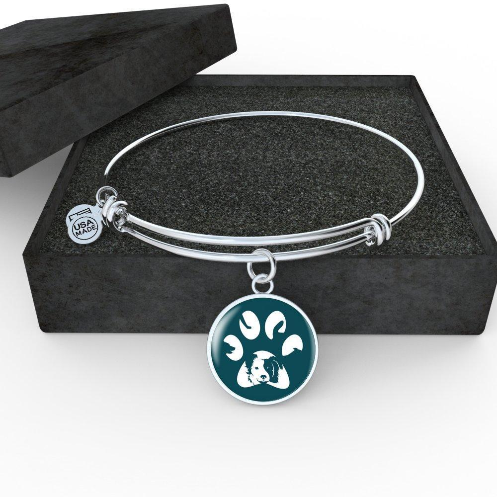 Veterinary Jewelry Gift Adjustable Luxury Bangle Bracelet - Dog Pawprint-Bangle Bracelet-I love Veterinary