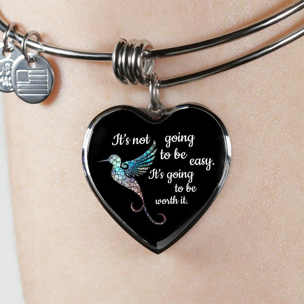 Veterinary Jewelry Gift Adjustable Luxury Bangle Bracelet - It's not going to be easy. It's going to be worth it-Bangle Bracelet-I love Veterinary