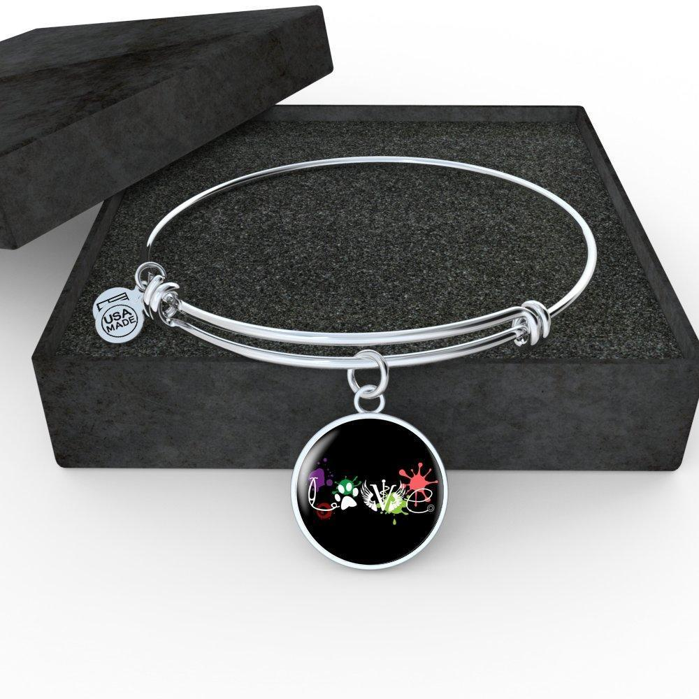 Veterinary Jewelry Gift Adjustable Luxury Bangle Bracelet - LOVE Veterinary Medicine-Bangle Bracelet-I love Veterinary